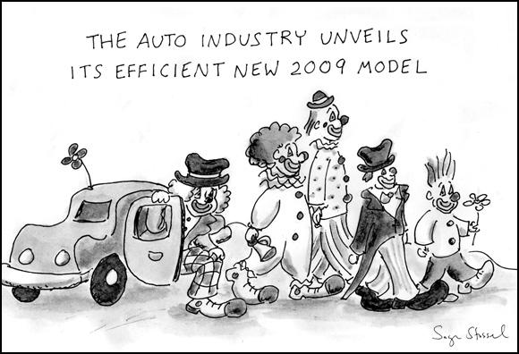 fuel-efficient car cartoon