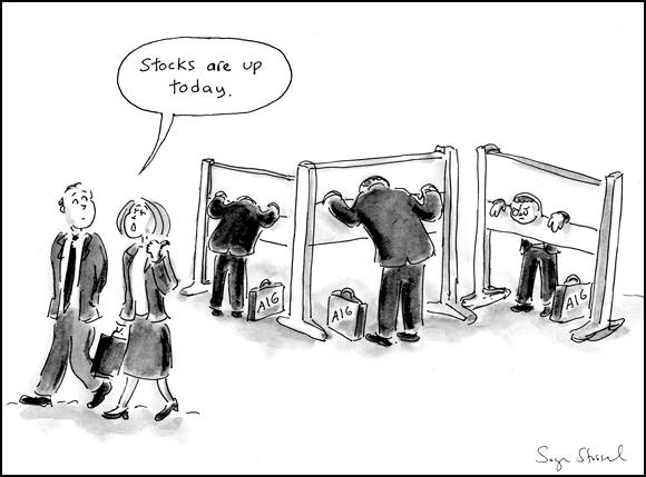cartoon about $165 million AIG bonus