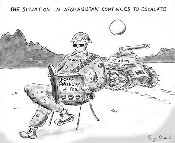 mccrystal request more troops in afghanistan cartoon