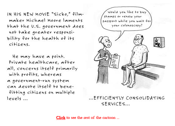 government-run healthcare reform cartoon