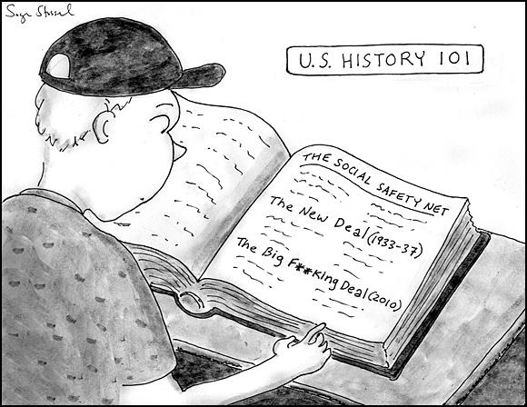 social safety net health care bill cartoon
