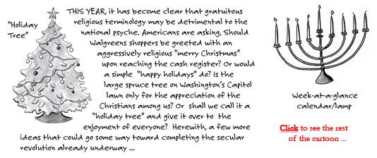Holiday terminology cartoon