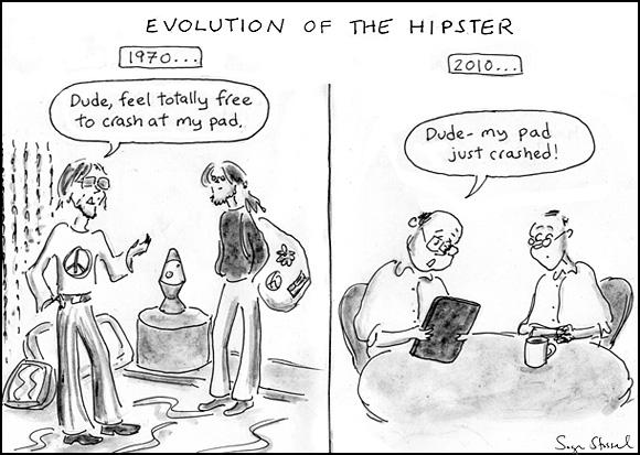 cartoon about ipad