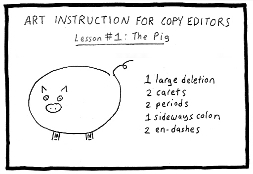 art instruction for copyeditors