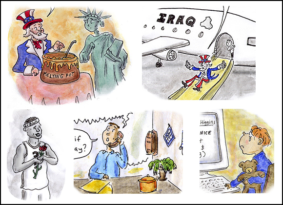2010 year cartoons- bp, lebron, julian assange, wikileaks, healthcare reform, ipad