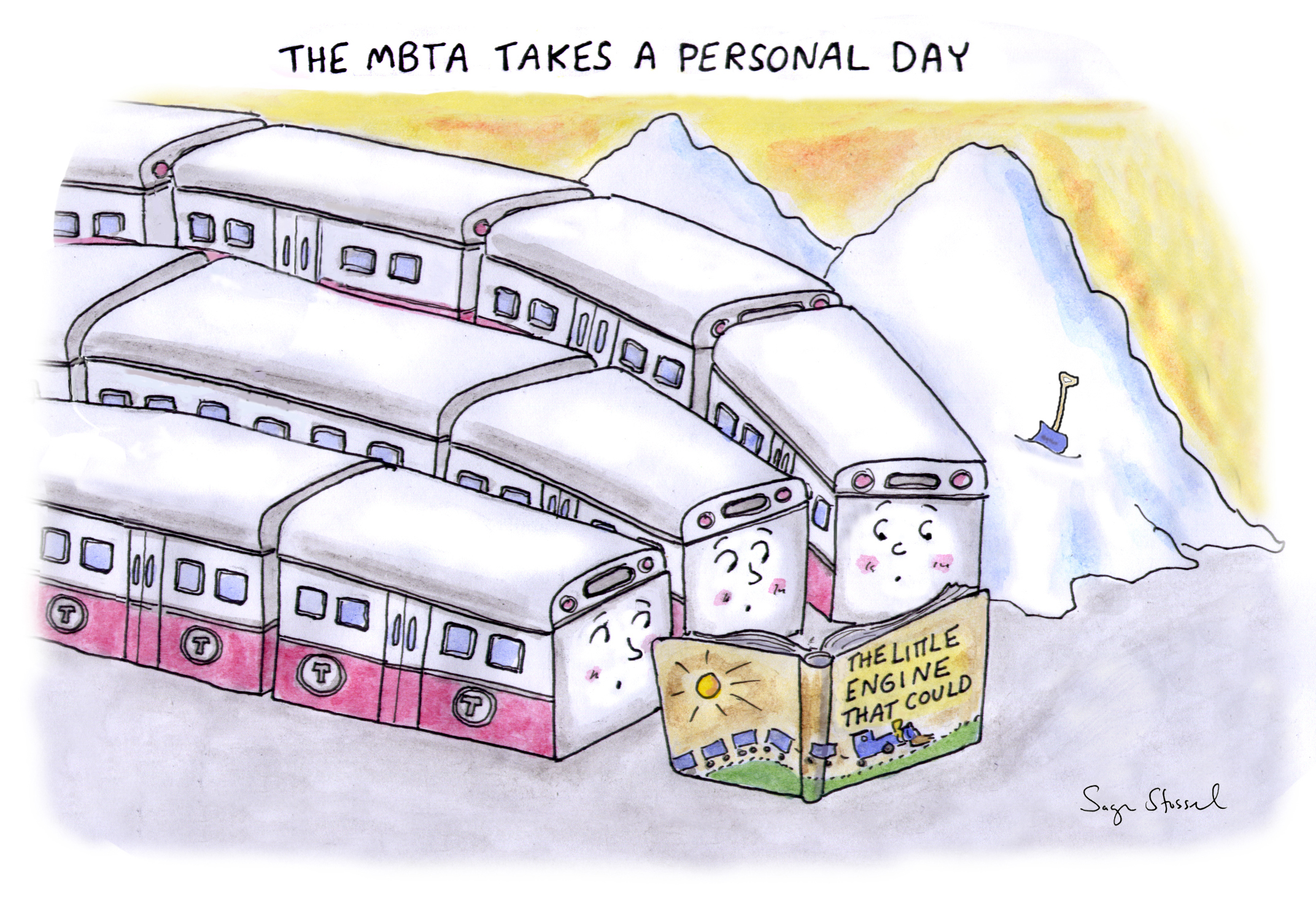 mbta, snowmageddon, beverly scott, breakdowns, february 2015, cartoon