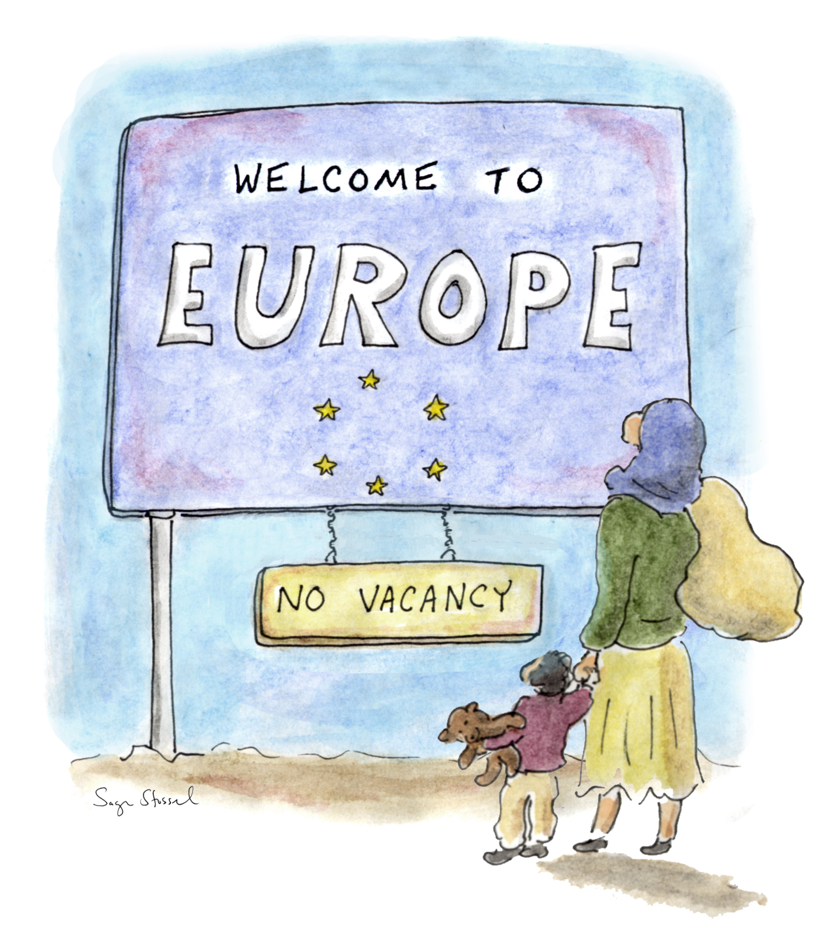 europe migrant crisis, syria, croatia, serbia, eu, germany, greece, viktor orban, asylum, cartoon