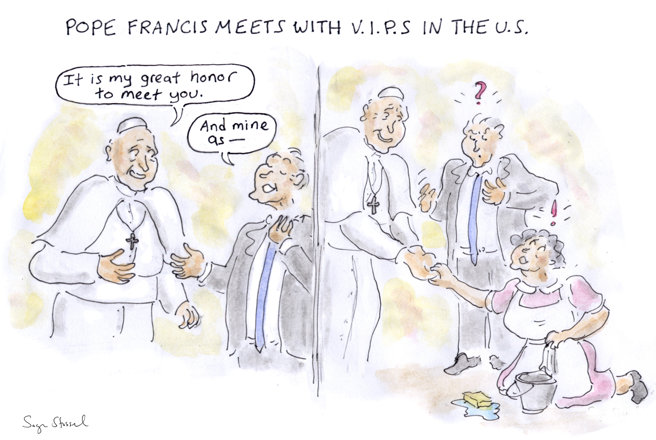 pope francis, u.s. visit, cuba, address congress, homeless, catholic church, white house, poor, jesuits, cartoon