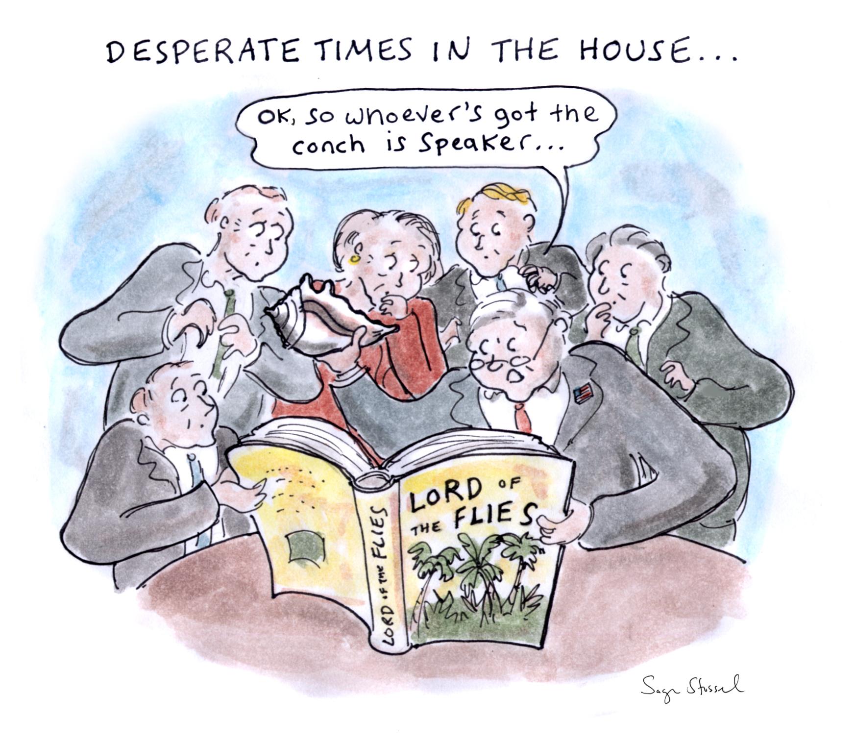 house speaker, paul ryan, john boehner, kevin mccarthy, freedom caucus, speaker's gavel, ungovernable, coalition, gop, congress, cartoon