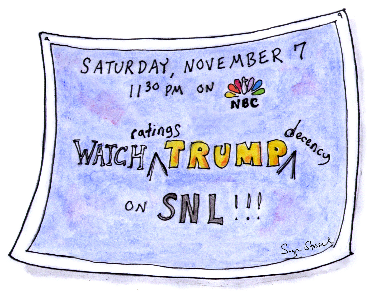 trump, snl, latinos, rapists, mexico, nbc, lorne michaels, ratings, saturday night live, campaign, election 2016, television, tv, cartoon