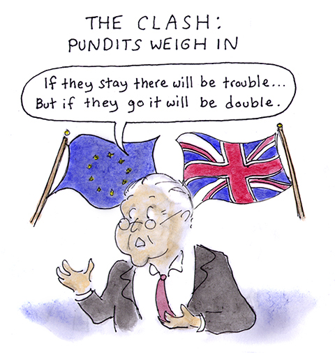 brexit, referendum, cameron, european union, the clash, pound, economy, remain, leave, jo cox, britain first, cartoon