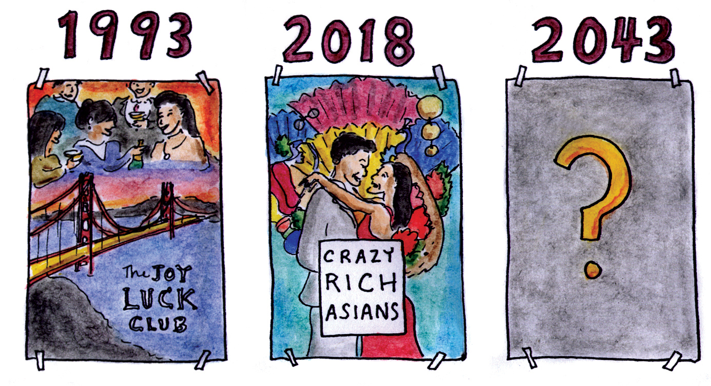 crazy rich asians, hollywood, searching, joy luck club, stereotypes, long duk dong, mr. yunioshi, breakfast at tiffany's, movies, sage stossel