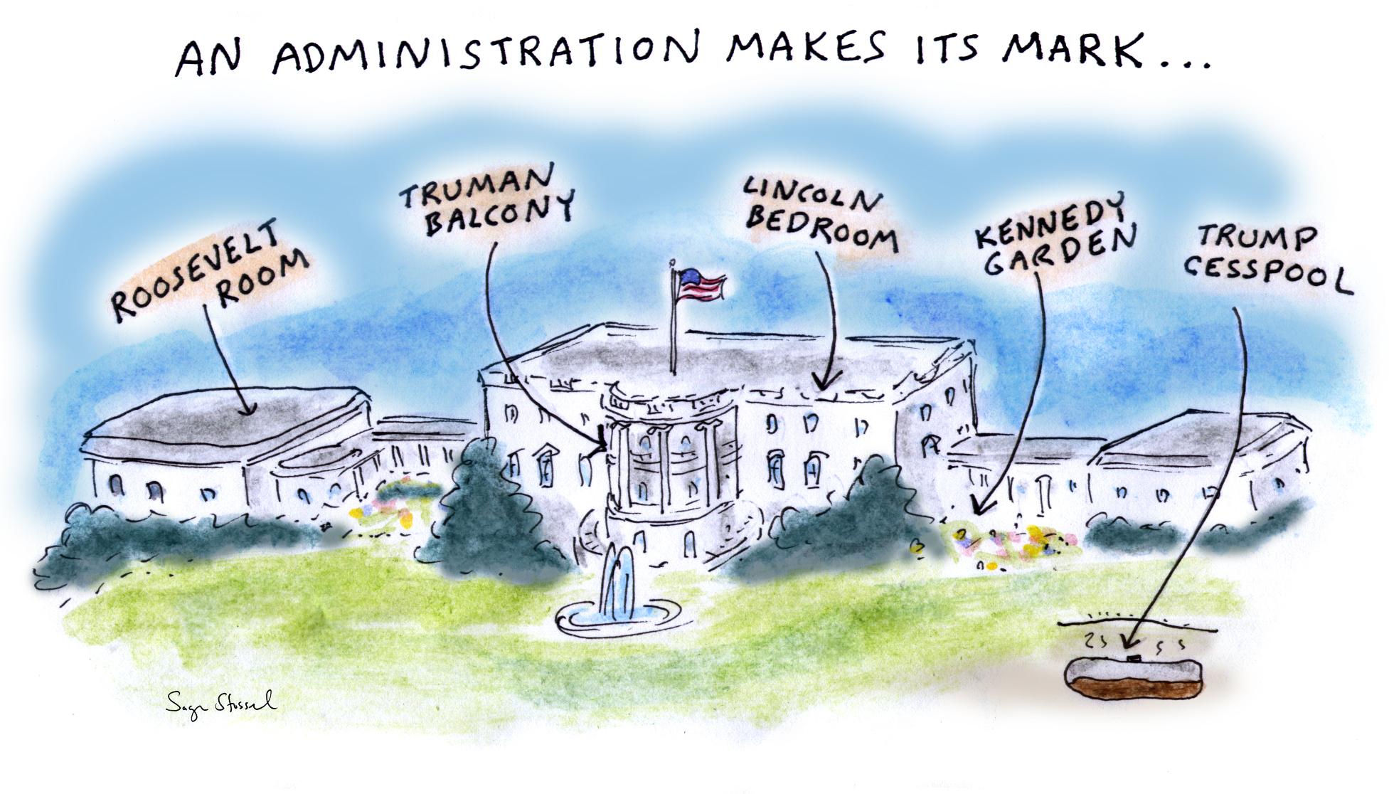 trump, white house, omarosa, lies, racism, corruption, vipers nest, cesspool, self-dealing, emoluments, cohen, manafort, roger stone, scott pruitt, wilber ross, sage stossel