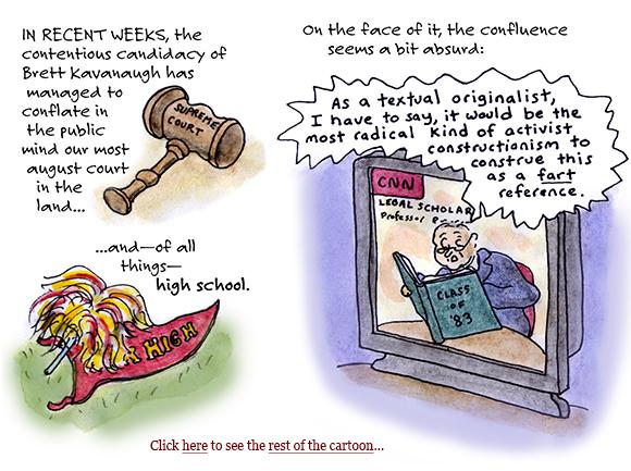 brett kavanaugh, supreme court, 1983, yearbook, drinking, teens, high school, judges, beer, partisanship, sage stossel