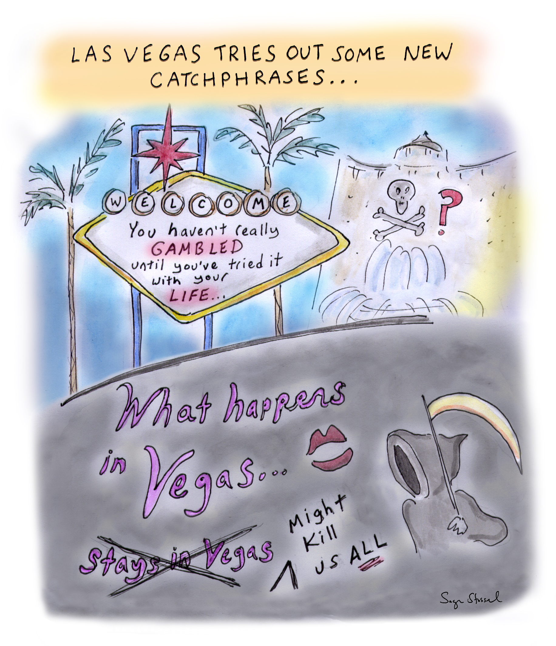 las vegas, mayor carolyn goodman, nevada, casinos, coronavirus, social distancing, curve, opening, economy, covid-19,  risk, pandemic, virus, health, cartoon, sage stossel