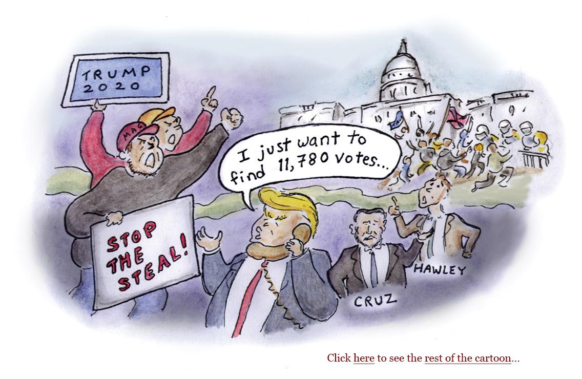 capitol mob riot, stop the steal, march to save america, sedition, biden inauguration, crowd size, pro-trump protestors, security, secret service, covid, coronavirus, trump's america, constitution, democracy, america, cabinet officials, presidency 2020, cartoon, sage stossel