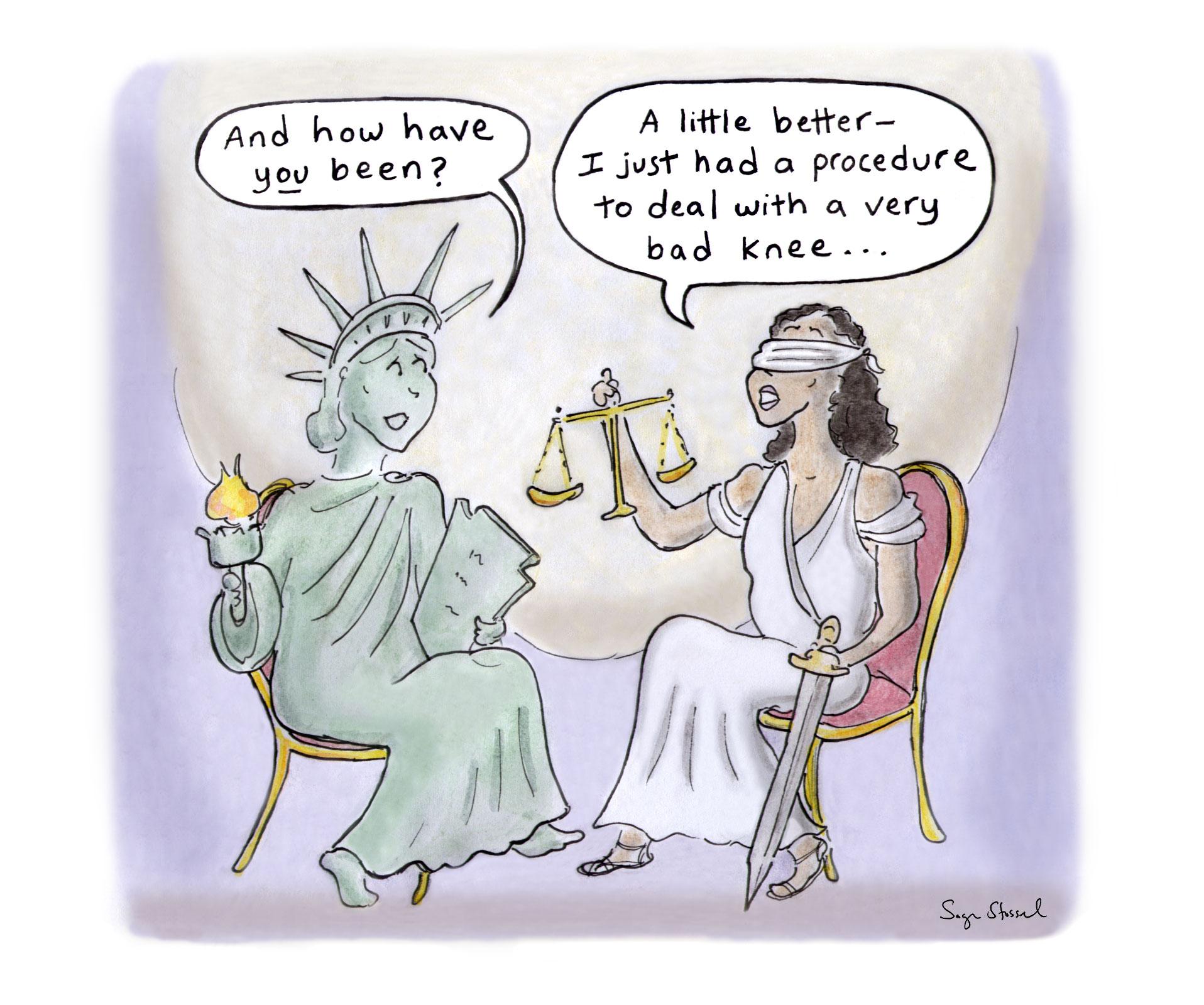 george floyd, justice, derek chauvin, police reform, race, cartoon, sage stossel