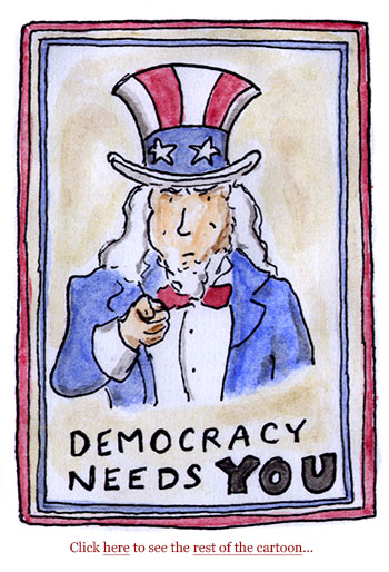democracy, GOP, election officials, voters, voter suppression, myanmar coup, mike flynn, gerrymandering, steal election, overturn election, audits, maricopa, senator manchin, synema, cartoon, sage stossel